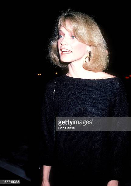 Actress Shelley Hack attends The Temptations' Music Video 'A Fine Mess' Premiere Party on March 19 1986 at The Comedy Storey in West Hollywood...