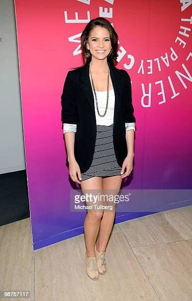 Actress Shelley Hennig arrives at the launch party for Executive Producer Ken Corday's new book 'The Days Of Our Lives The Untold Story of One...