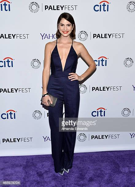 Actress Shelley Hennig arrives at The Paley Center For Media's 32nd Annual PALEYFEST LA 'Teen Wolf' event at the Dolby Theatre on March 11 2015 in...