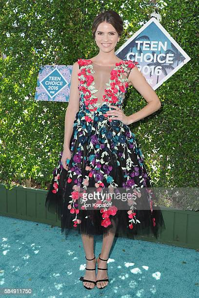 Actress Shelley Hennig arrives at the Teen Choice Awards 2016 at The Forum on July 31 2016 in Inglewood California