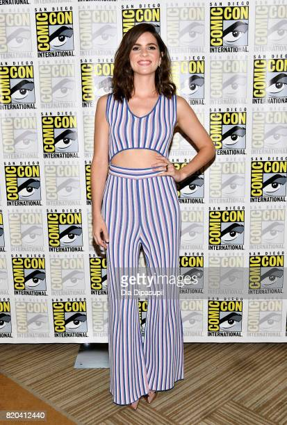 Actress Shelley Hennig at the Teen Wolf Press Line during ComicCon International 2017 at Hilton Bayfront on July 21 2017 in San Diego California