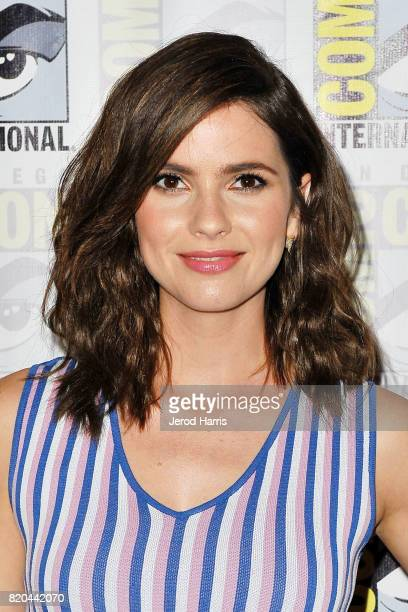 Actress Shelley Hennig attends 'Teenwolf' press line at Comic Con on July 21 2017 in San Diego California