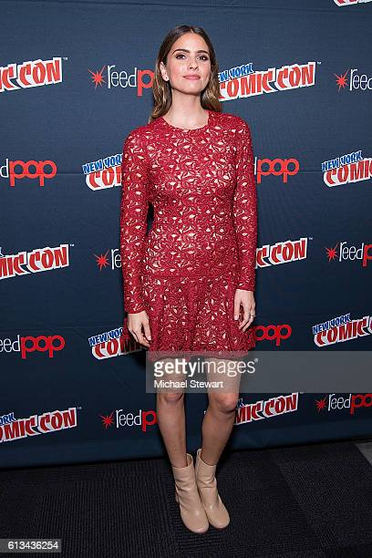 Actress Shelley Hennig attends the MTV Teen Wolf Final Farewell press room during 2016 New York Comic Con at the Jacob Javitz Center on October 8...