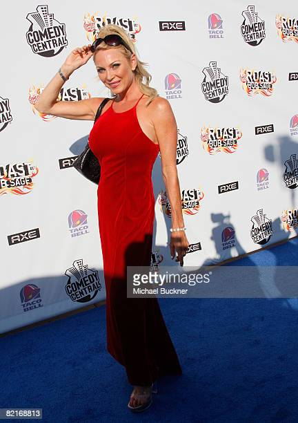 Actress Shelley Michelle arrives to Comedy Central Roast Of Bob Saget at the Warners Brothers Studio Lot on August 3 2008 in Burbank California