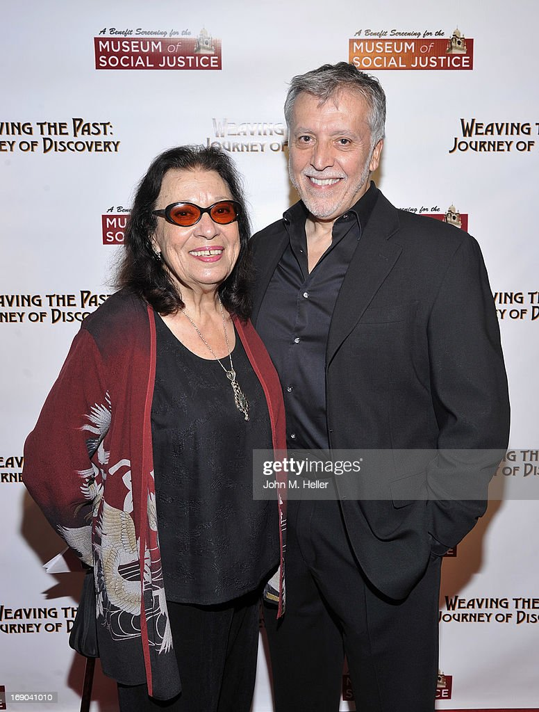 Actress Shelley Morrison and director/writer/producer of 'Weaving The Past: Journey Of Discovery' Walter Dominguez attend the screening of 'Weaving The Past: Journey Of Discovery' at the Linwood Dunn Theater at the Pickford Center for Motion Study on May 18, 2013 in Hollywood, California.