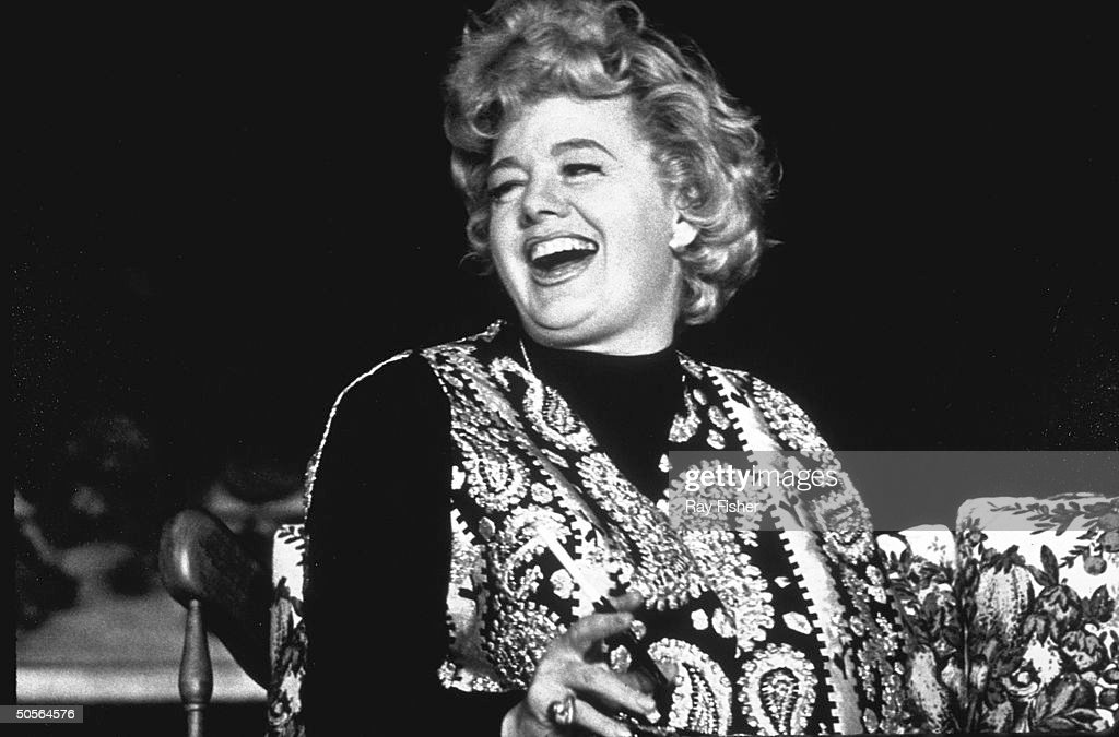 Actress Shelley Winters in a scene from stock production of the stage play Who's Afraid of Virginia Woolf?
