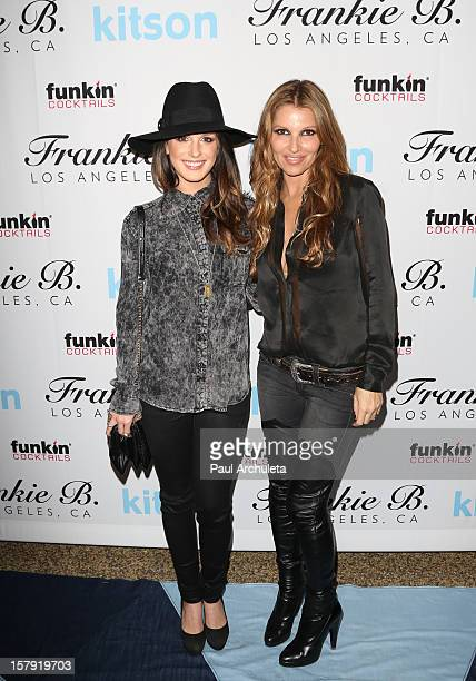 Actress Shenae Grimes and Danielle Clarke attend the Get Festive With Frankie B and Kitson event at Kitson on Roberston on December 6 2012 in Beverly...