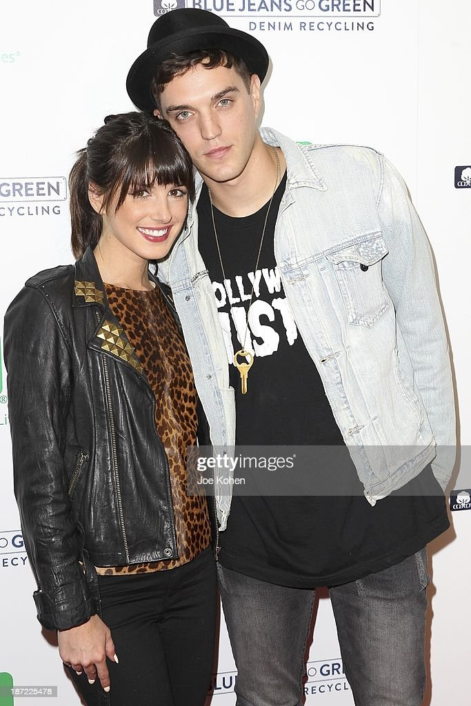 Actress Shenae Grimes and model Josh Beech attend Blue Jeans go green celebrates 1 Million pieces of denim collected for recycling hosted by Miles Teller at SkyBar at the Mondrian Los Angeles on November 6, 2013 in West Hollywood, California.