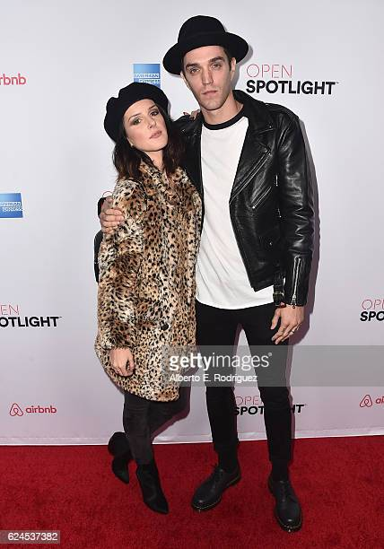 Actress Shenae Grimes and musician Josh Beech attend the 3rd Annual Airbnb Open Spotlight at Various Locations on November 19 2016 in Los Angeles...