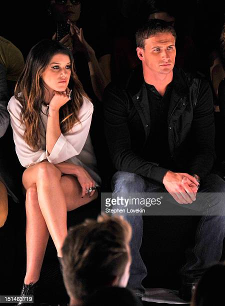 Actress Shenae Grimes and Olympian Ryan Lochte attend the Rebecca Minkoff Spring 2013 fashion show during MercedesBenz Fashion Week at The Theatre...