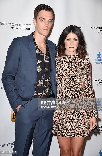 Actress Shenae Grimes and recording artist Josh Beech arrive for Autism Speaks' La Vie En BLUE Fashion Gala produced by Metropolitan Fashion Week...