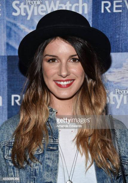 Actress Shenae Grimes arrives at the People StyleWatch 4th Annual Denim Awards Issue party at The Line on September 18 2014 in Los Angeles California