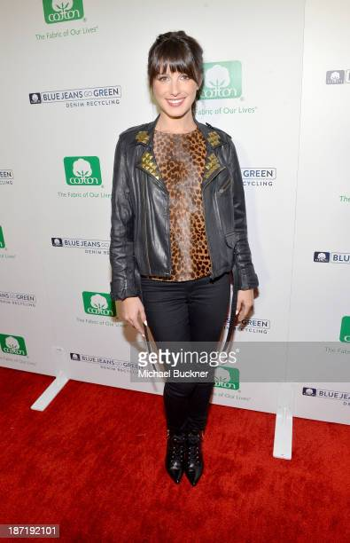 Actress Shenae Grimes attends Cotton Incorporated's Blue Jeans Go Green celebrates 1 million pieces of denim collected for recycling at SkyBar at the...