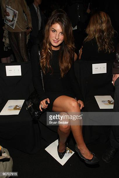 Actress Shenae Grimes attends Diane Von Furstenberg Spring 2010 fashion show at Bryant Park on September 13 2009 in New York New York