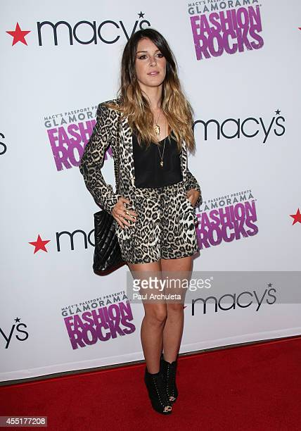Actress Shenae Grimes attends Glamorama 'Fashion Rocks' In Los Angeles presented Macy's passport at Create Nightclub on September 9 2014 in Los...