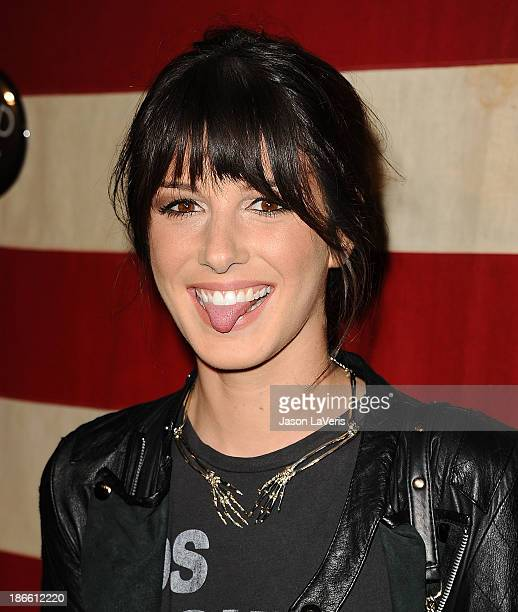 Actress Shenae Grimes attends Nylon Magazine's 'America The Issue' celebration at Sunset Marquis Hotel Villas on November 1 2013 in West Hollywood...