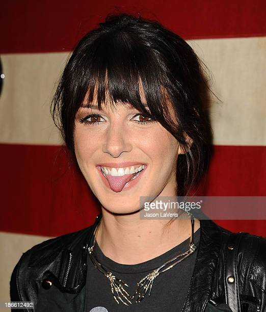 Actress Shenae Grimes attends Nylon Magazine's America The Issue celebration at Sunset Marquis Hotel Villas on November 1 2013 in West Hollywood...