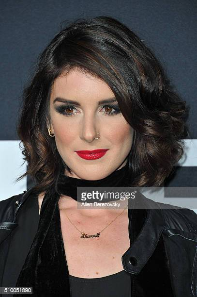 Actress Shenae Grimes attends SAINT LAURENT At The Palladium at Hollywood Palladium on February 10 2016 in Los Angeles California