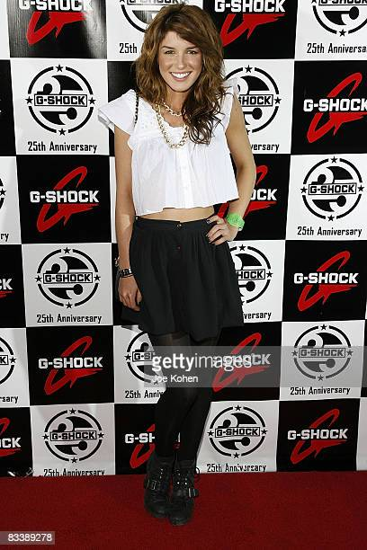 Actress Shenae Grimes attends the Casio GSHOCK 25th Anniversary Celebration at Gustavino's on May 14 2008 in New York City