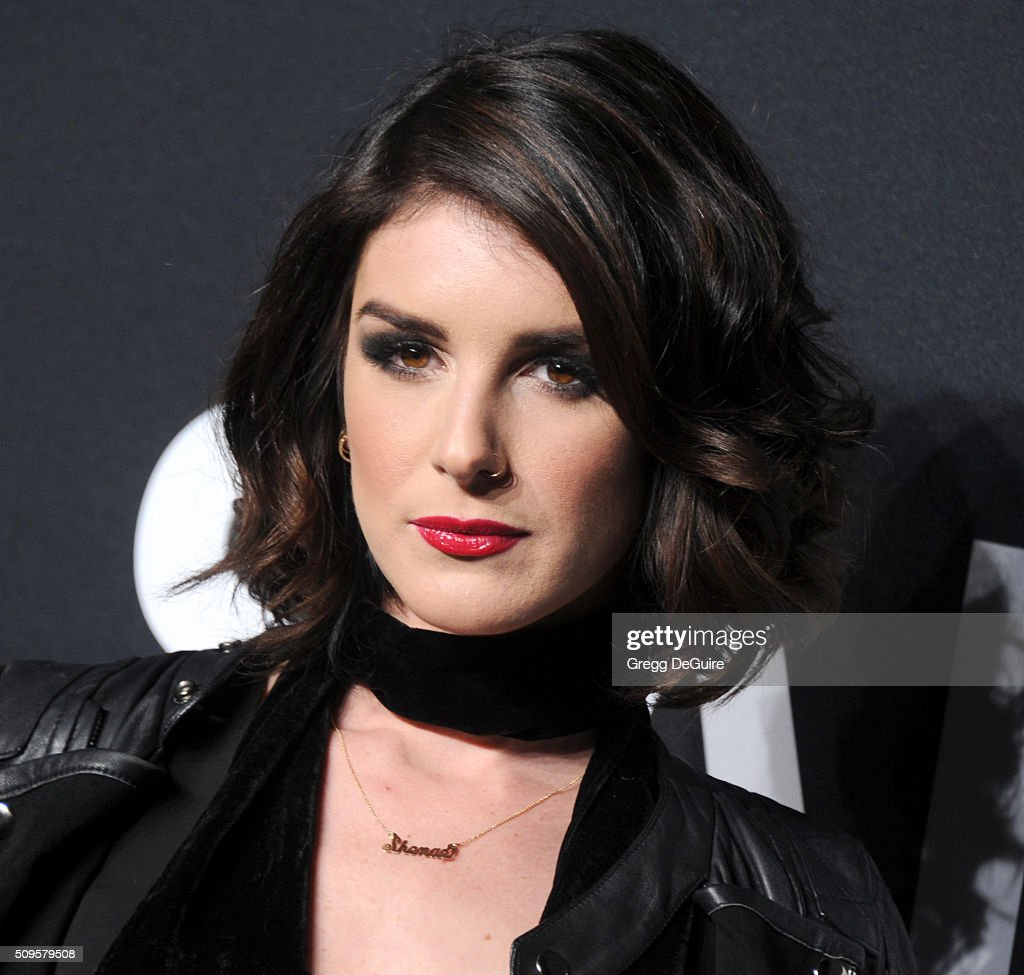 Actress Shenae Grimes attends the Saint Laurent show at The Hollywood Palladium on February 10, 2016 in Los Angeles, California.