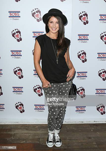 Actress Shenae Grimes attends the Skechers 'Summer Soiree' at SkyBar at the Mondrian Los Angeles on August 21 2013 in West Hollywood California