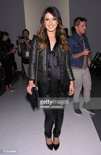 Actress Shenae Grimes attends the Tracy Reese Spring 2013 fashion show during MercedesBenz Fashion Week at The Studio at Lincoln Center on September...