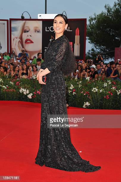 Actress Shengyi Huang attends the Contagion premiere during the 68th Venice Film Festival at Palazzo del Cinema on September 3 2011 in Venice Italy