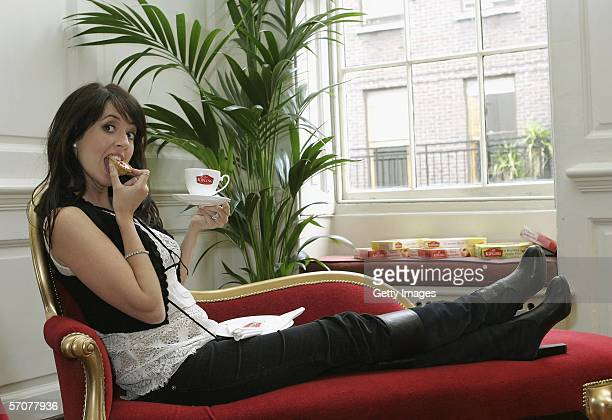 Actress Sheree Murphy reveals the results of Mr Kipling's National Gossip Survey at Dean Street on March 14 2006 in London EngLand The research into...