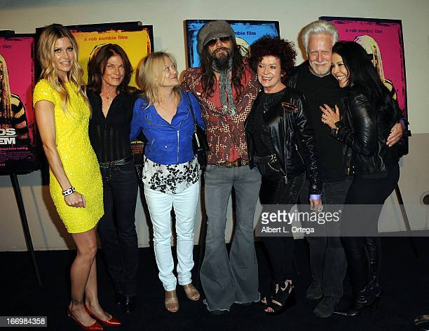 Actress Sheri Moon Zombie actress Meg Foster actress Judy Geeson director Rob Zombie actress Patricia Quinn actor Bruce Davison and actress mara...