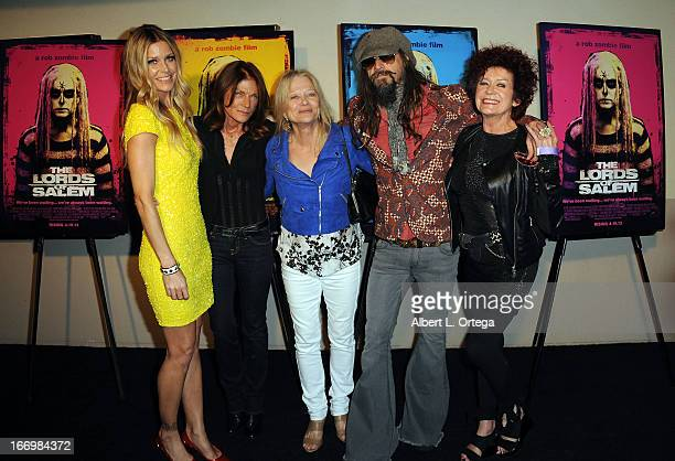 Actress Sheri Moon Zombie actress Meg Foster actress Judy Geeson director Rob Zombie and actress Patricia Quinn arrive for Fan Screening Of Anchor...