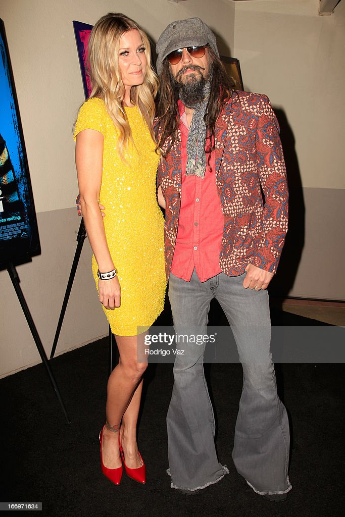 Actress Sheri Moon Zombie and husband Rob Zombie arrive at Rob Zombie's 'The Lords Of Salem' Los Angeles Premiere at AMC Burbank 16 on April 18, 2013 in Burbank, California.