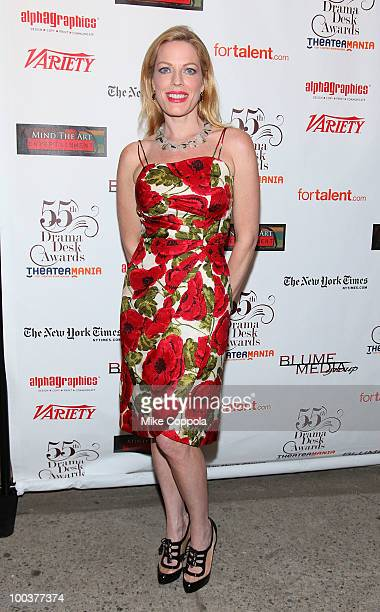 Actress Sherie Rene Scott arrives at the 55th Annual Drama Desk Awards at the FH LaGuardia Concert Hall at Lincoln Center on May 23 2010 in New York...