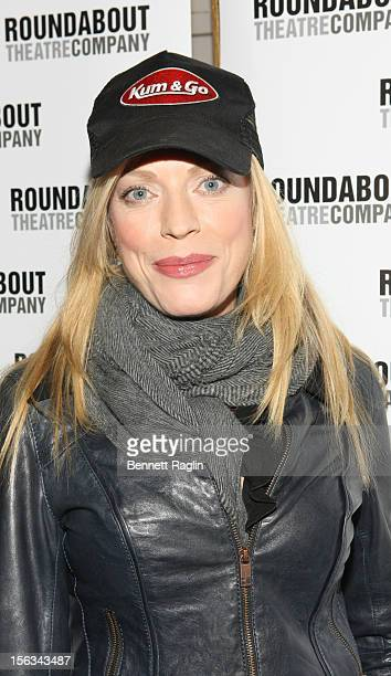 Actress Sherie Rene Scott attends the 'The Mystery Of Edwin Drood' Broadway Opening Night at the Roundabout Theatre Company's Studio 54 on November...