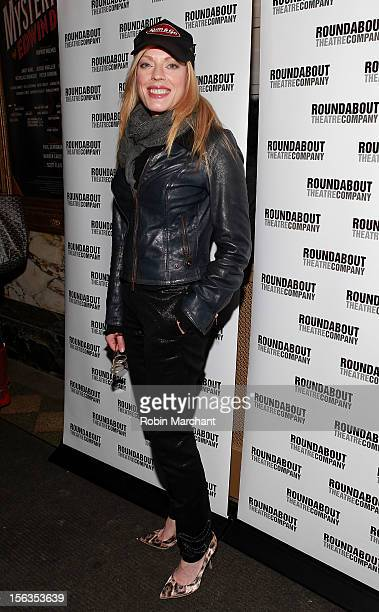 Actress Sherie Rene Scott attends the 'The Mystery Of Edwin Drood' Broadway Opening Night at Roundabout Theatre Company's Studio 54 on November 13...