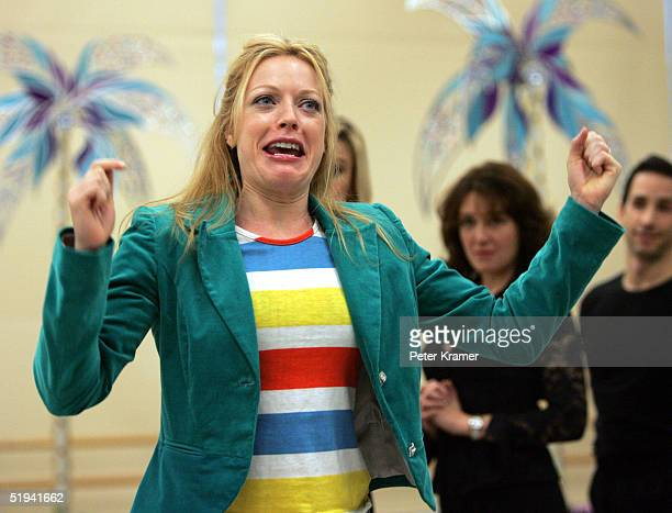 Actress Sherie Rene Scott rehearse scenes from her new musical Dirty Rotten Scoundrels which will preview on January 31 2005 in New York City