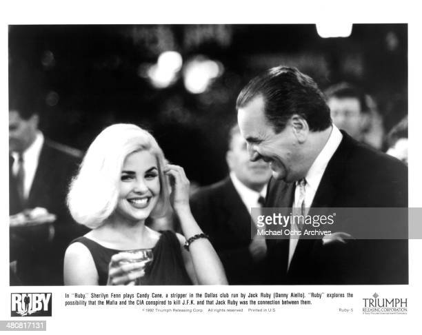 Actress Sherilyn Fenn and actor Danny Aiello in a scene from the Triumph movie 'Ruby' circa 1992