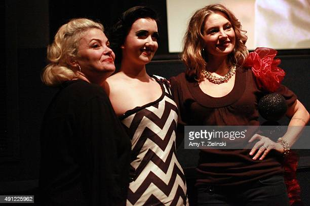 Actress Sherilyn Fenn who played on the TV series Twin Peaks the character Audrey Horne and actress Madchen Amick who played Shelly Johnson on the TV...