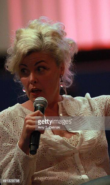 Actress Sherilyn Fenn who played on the TV series Twin Peaks the character Audrey Horne speaks at a QA during the sixth annual Twin Peaks UK Festival...