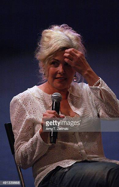 Actress Sherilyn Fenn who played on the TV series Twin Peaks the character Audrey Horne speaks during a QA at the sixth annual Twin Peaks UK Festival...