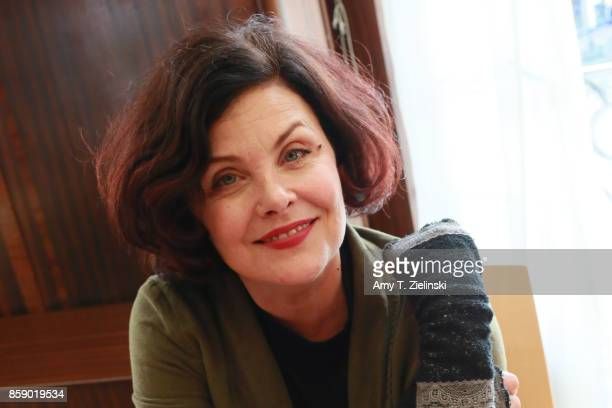 Actress Sherilyn Fenn who plays the character Audrey Horne in the TV series Twin Peaks poses for a photograph during the Twin Peaks UK Festival 2017...