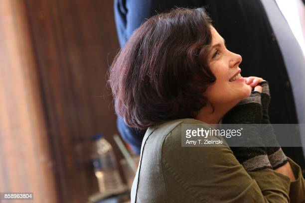 Actress Sherilyn Fenn who portrayed the character Audrey Horne in the TV series Twin peaks talks to fans during the Twin Peaks UK Festival 2017 at...