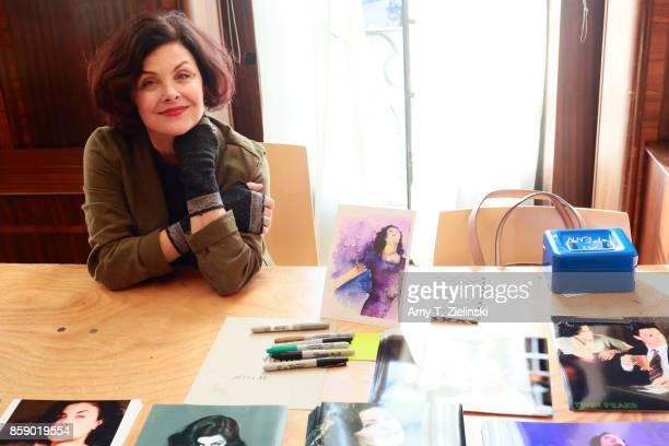 Actress Sherilyn Fenn who portrayed the character Audrey Horne in the TV series Twin Peaks poses for a photograph during the Twin Peaks UK Festival...