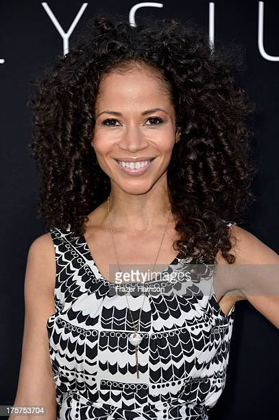 Actress Sherri Saum arrives at the premiere of TriStar Pictures' Elysium at Regency Village Theatre on August 7 2013 in Westwood California