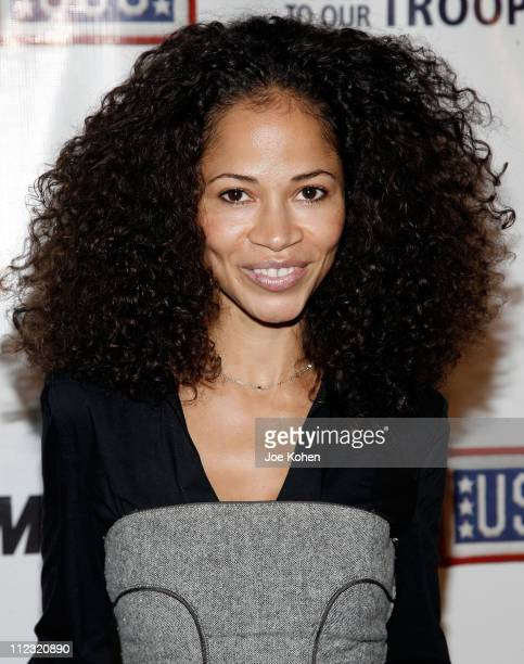 Actress Sherri Saum attends A Salute To Our troops ceremony hosted by Microsoft Corporation and the United Service Organizations at The Rainbow Room...