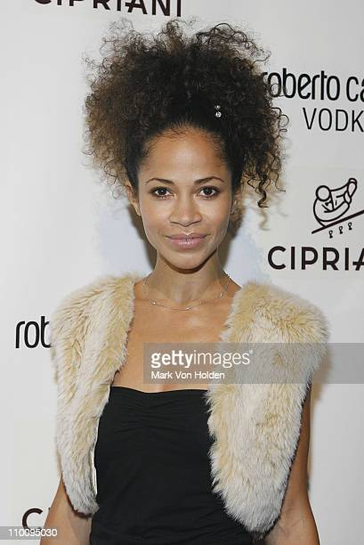 Actress Sherri Saum attends the Roberto Cavalli Vodka and Giuseppe Cipriani Halloween Party at Cipriani's 42nd Street on October 31 2007 in New York...
