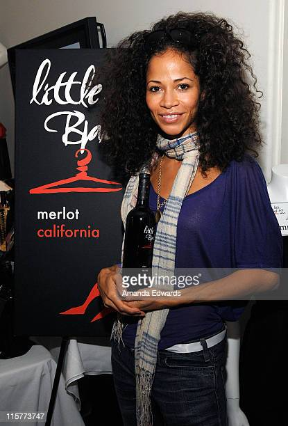 Actress Sherri Saum poses at Little Black Dress Wines at Kari Feinstein Golden Globes Style Lounge held at Zune LA on January 9, 2009 in Los Angeles,...