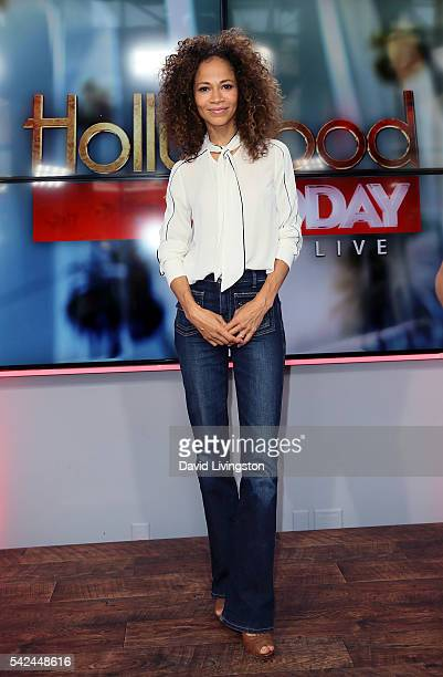 Actress Sherri Saum visits Hollywood Today Live at W Hollywood on June 23 2016 in Hollywood California