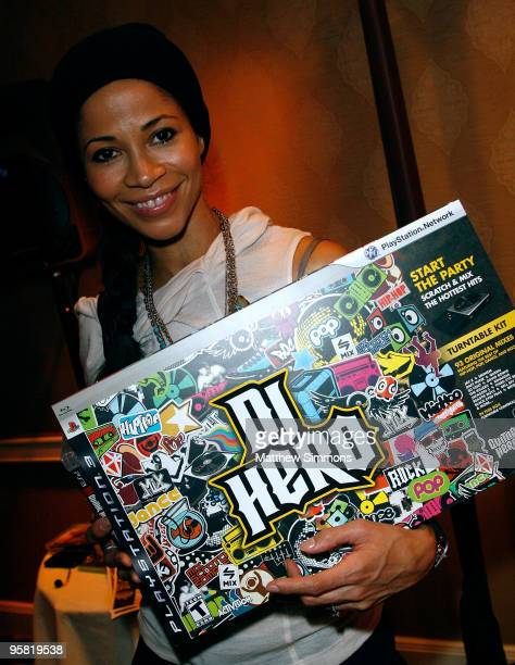 Actress Sherri Saum visits the Activision display during the HBO Luxury Lounge in honor of the 67th annual Golden Globe Awards held at the Four...