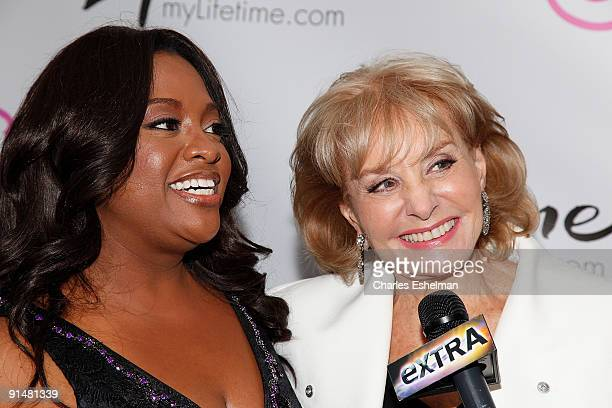 Actress Sherri Shepherd and The View host Barbara Walters attend the Sherri launch party at the Empire Hotel on October 5 2009 in New York City