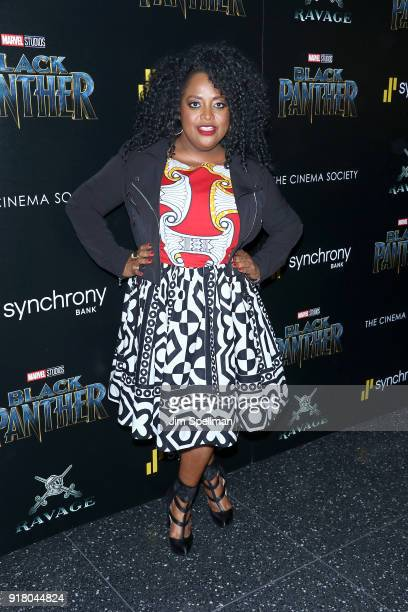 Actress Sherri Shepherd attends the screening of Marvel Studios' 'Black Panther' hosted by The Cinema Society with Ravage Wines and Synchrony at...